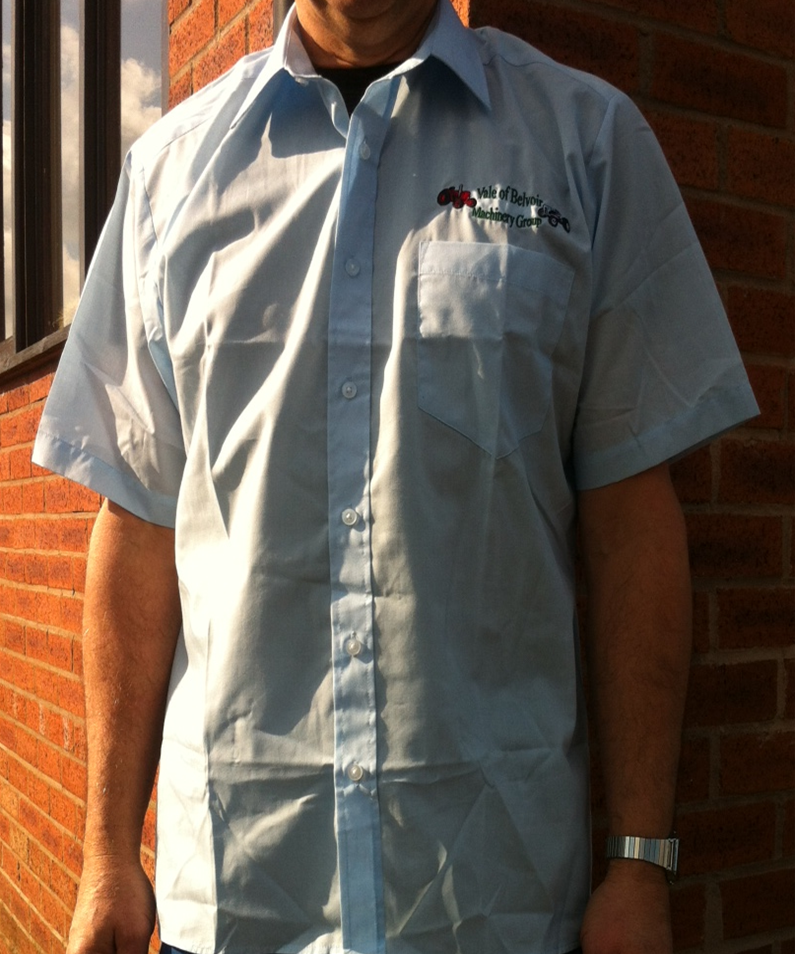 Club Branded Short Sleeved Cotton Poplin Shirt - Available in a variety of colours and sizes prices at £14