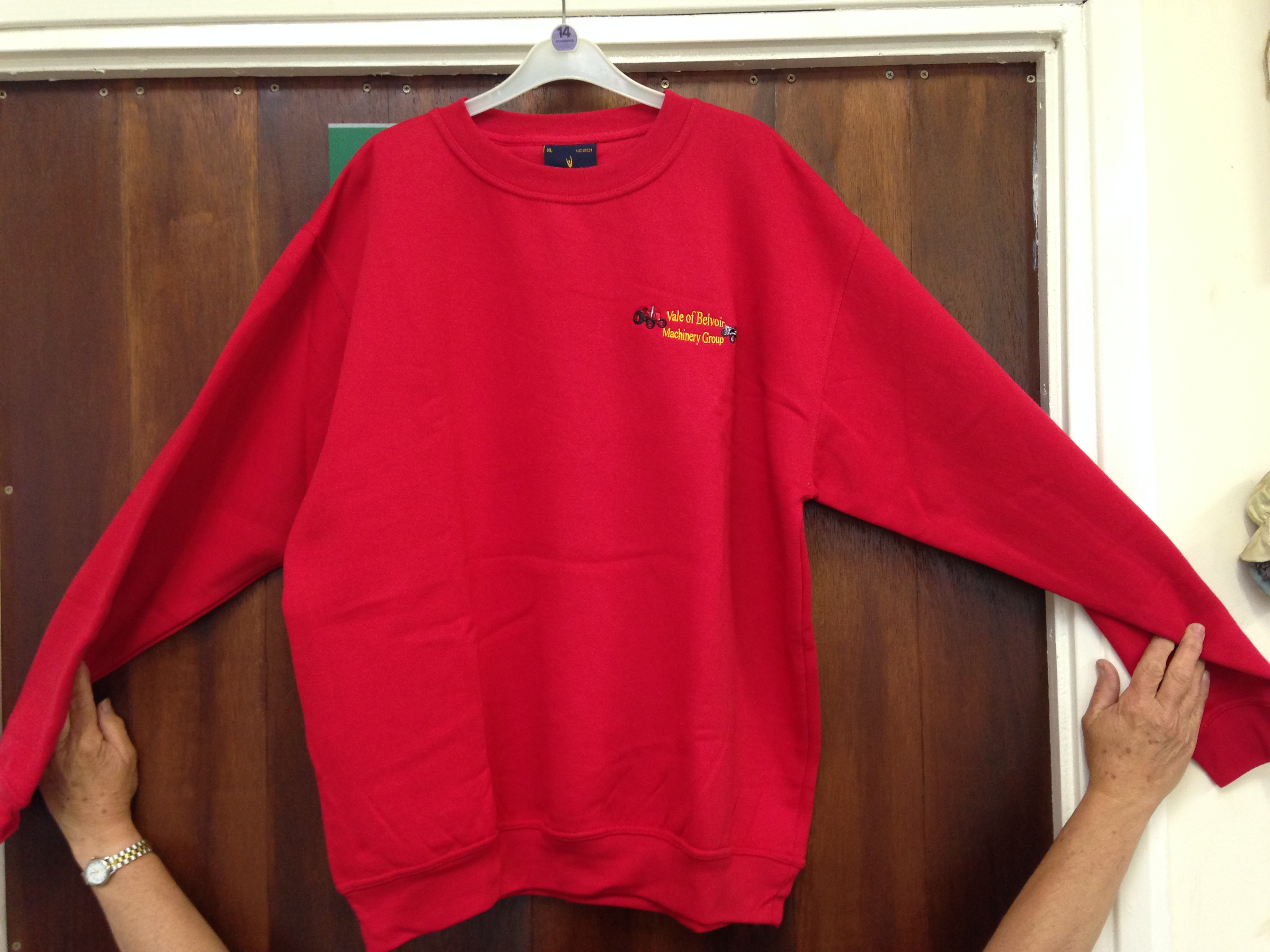 Club Branded Sweatshirt - Available in a variet yof colours and sizes priced at £13