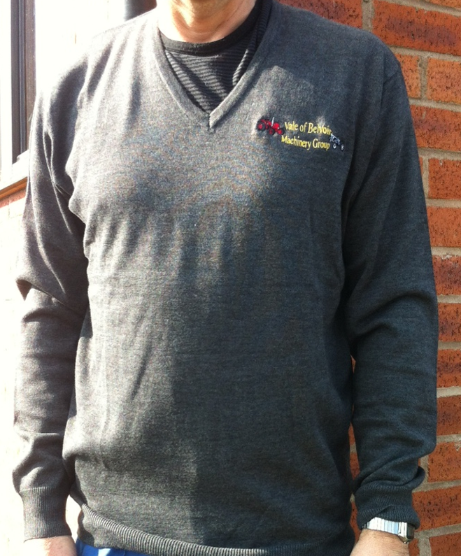 Club Branded V Neck Sweater - Available in a variety of colours and sizes priced at £19.50